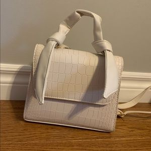 3/$22 Never Used White Top Handle Purse